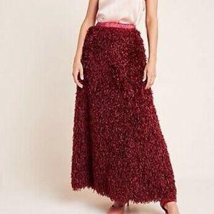 Sunday in Brooklyn Chantal Feathered Maxi Skirt